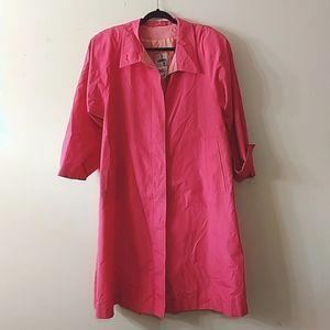 Vintage J. Gallery Pink Trench Coat, Petite 8